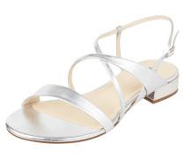 Sandalen aus Leder in Metallicoptik