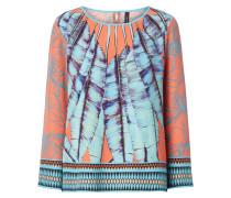 Blusenshirt aus Seide mit Muster im Ethno-Look