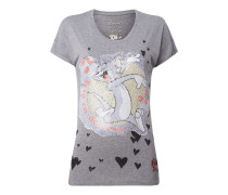 T-Shirt mit Tom and Jerry™-Motiv aus Pailletten