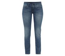 Mid Straight Fit Jeans mit breitem Bund