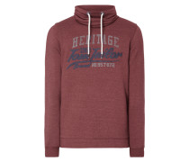 Sweatshirt mit Tube Collar - meliert