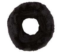 Loop-Schal mit Webpelzbesatz