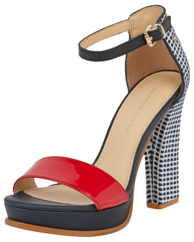 tommy hilfiger damen high heels mit riemen aus lackleder. Black Bedroom Furniture Sets. Home Design Ideas