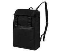 Rucksack mit Besatz aus Leder