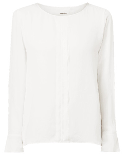 Blusenshirt mit Zierstreifen im Double-Layer-Look