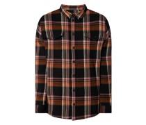 Oversized Flanellhemd mit Stretch-Anteil Modell 'Emory'