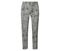 Stoffhose mit Leopardenmuster
