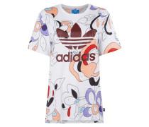 T-Shirt mit Allover-Muster und Zahlendetails