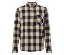 Modern Fit Flanellhemd mit Vichy Karo