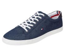Sneaker aus Canvas in Denimoptik