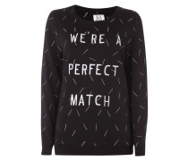Sweatshirt mit Message-Stickerei