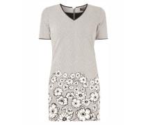 Kleid mit Fischgrat-Dessin