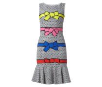 Kleid mit Allover-Muster und Schleifen-Print