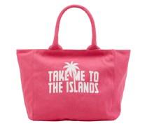 Strandtasche mit Logo-Print