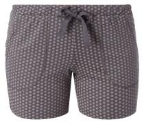 Pyjamashorts mit Allover-Muster