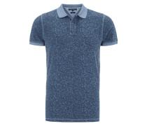 Slim Fit Poloshirt mit botanischem Muster
