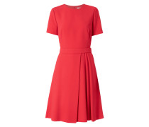 Kleid aus Krepp mit Taillenpasse
