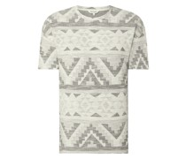 T-Shirt mit Ikat-Muster