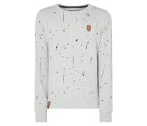 Sweatshirt mit Farbklecksmuster