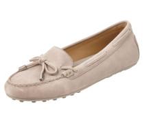 Loafer aus echtem Veloursleder