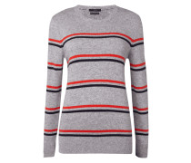 Pullover mit Streifenmuster - meliert