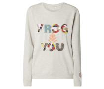 Sweatshirt mit Message aus Ziersteinen