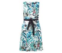 Kleid mit Allover-Muster und Band zum Binden