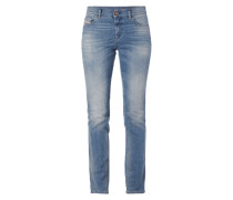 Stone Washed Regular Straight Fit 5-Pocket-Jeans