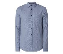 Slim Fit Freizeithemd aus Popeline Modell 'Mypop'