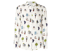 Bluse mit Fashion-Prints