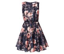 Kleid aus Organza mit floralem Muster