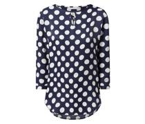 Blusenshirt aus Krepp mit Polka Dots