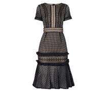 Kleid mit Lochmuster und Häkelspitze