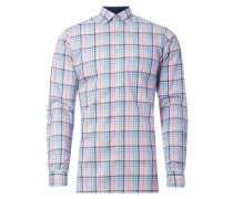 Modern Fit Business-Hemd mit Karo-Dessin
