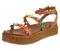 Sandalen aus Leder mit Plateausohle