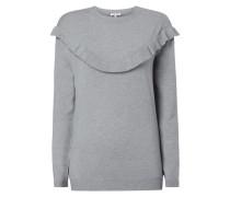 Pullover mit Volantbesatz