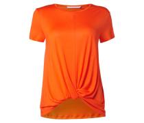 T-Shirt aus Lyocell mit Saum in Knotenoptik