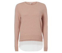Pullover mit Saum im Double-Layer-Look