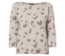 Pullover mit eingestricktem Tartan-Karo