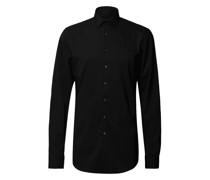 Slim Fit Business-Hemd mit Stretch-Anteil und extra langem Arm