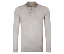 Slim Fit Poloshirt mit langen Ärmeln