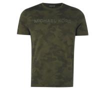 T-Shirt mit Camouflage-Muster aus Punkten