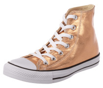 High Top Sneaker in Metallicoptik