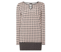 Kleid aus Jersey mit Allover-Muster