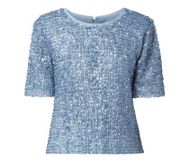 Shirt aus Mesh mit Pailletten Modell 'Zamara'