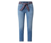 Slim Fit Cropped Jeans mit Stretch-Anteil Modell 'Alexa'