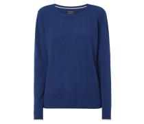 Pullover mit kontrastfarbenen Ärmelabschlüssen