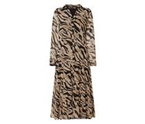 Kleid aus Chiffon im Stufen-Look
