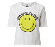 T-Shirt aus Bio-Baumwolle Modell 'Smiley'