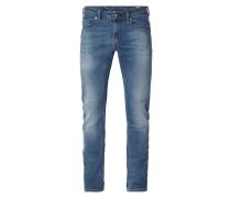 Stone Washed Slim-Skinny Jeans